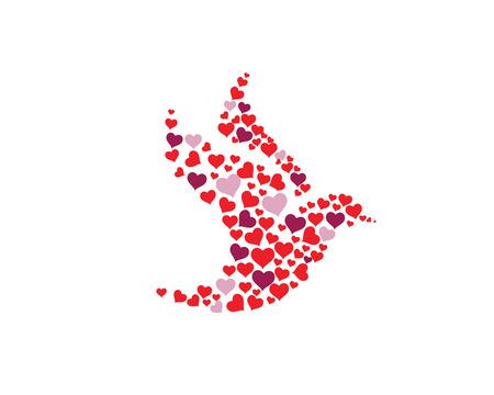 Vogelflügel-Taube Logo Template-Vektor-illustration