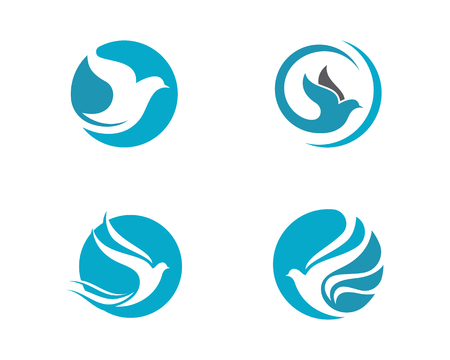 Bird wing dove icon template design vector illustration.