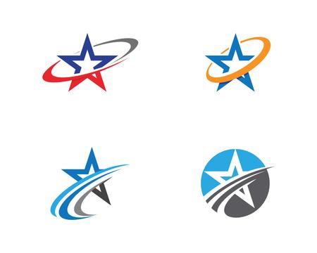 Star Logo Template vector icon illustration design Illustration