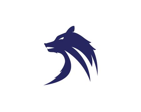 Wolf Logo Template vector illustration design.