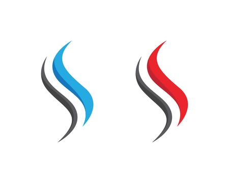 S Letter Fire icona di fiamma Template design