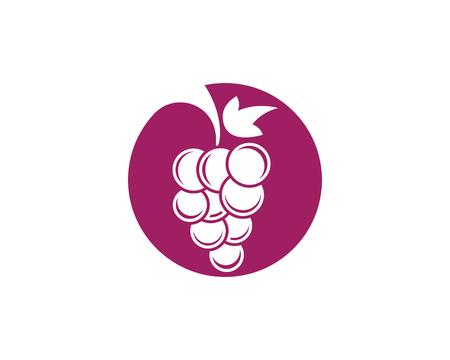 concord: Grapes logo template vector icon illustration design