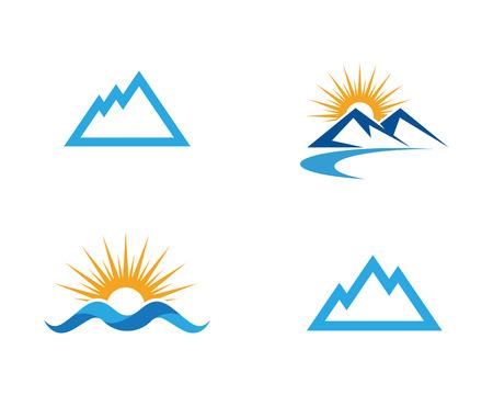 Mountain icon Business Template Vector Vectores