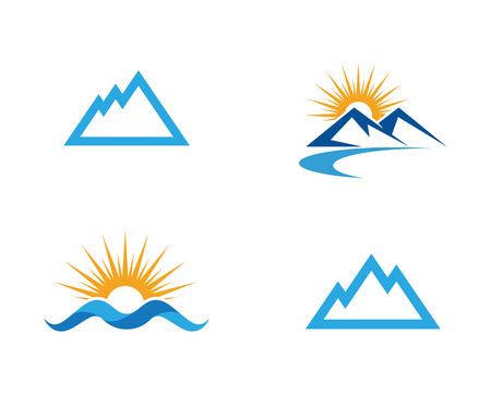 Mountain icon Business Template Vector Çizim