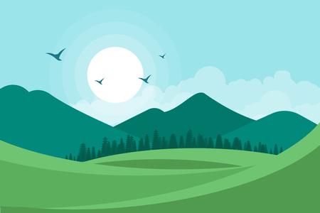 Landscape vector illustration background