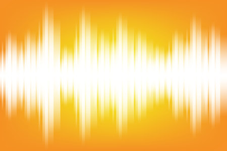 Sound wave light electromagnetic themed background illustration