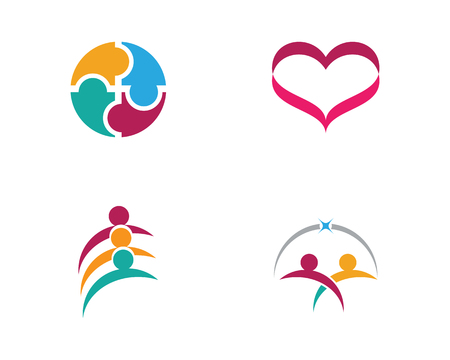 Adoption and community care icon template vector icon Illustration