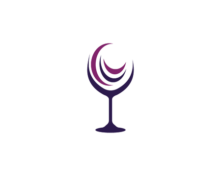 Wine glass in abstract style design for Wine Logo Template vector illustration