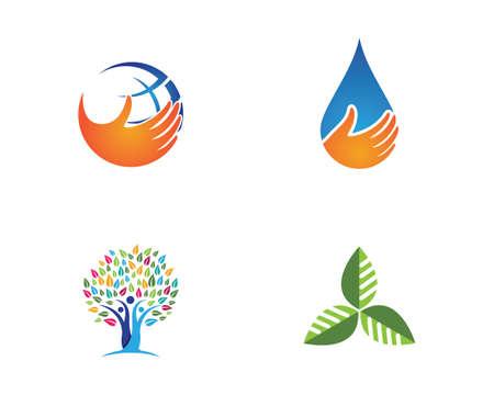Tree leaf vector icon design, eco-friendly concept.
