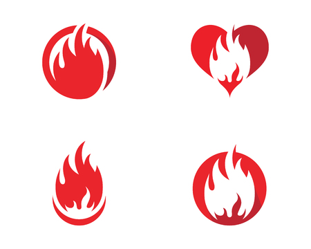 Fire flame icon template design, vector illustration.  イラスト・ベクター素材