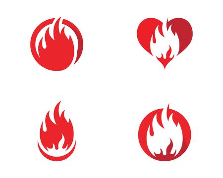 Fire flame icon template design, vector illustration. Illustration