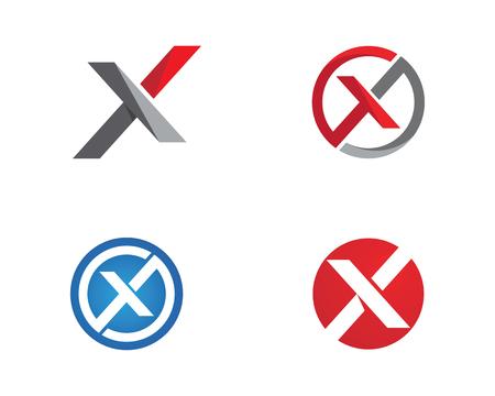 X Letter Logo Template vector icon design