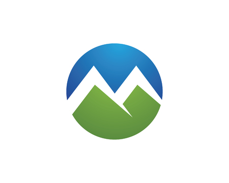 High Mountain icon Business Template Vector Illustration