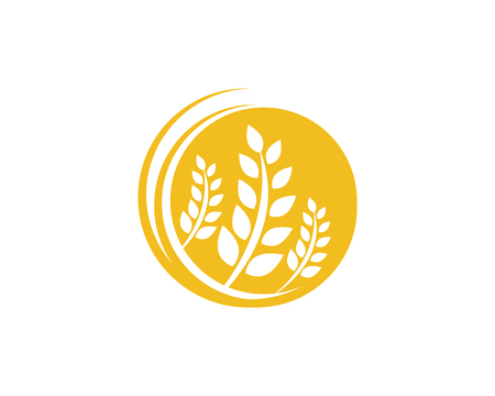 農業小麦ロゴテンプレートベクトルアイコンデザイン