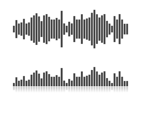 Sound waves vector illustration