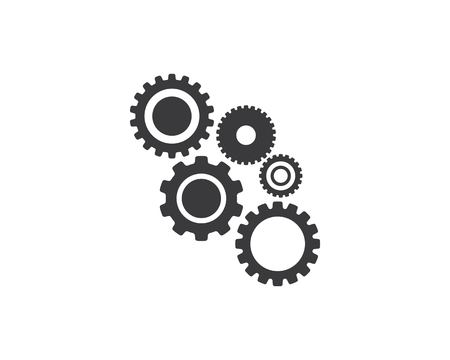 Gear Logo Template vector icon illustration design Çizim