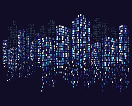 Modern City skyline . city silhouette. vector illustration in flat design