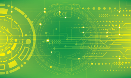 Abstract future digital science technology concept Ilustração