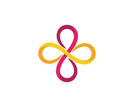 Infinity logo Vector Logo sjabloon Stockfoto - 91795639