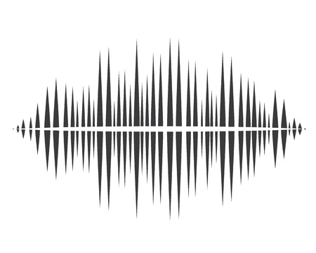Sound waves vector illustration template