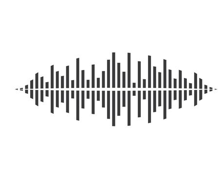 Sound waves vector illustration template