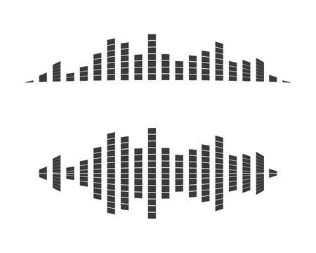 Sound waves vector illustration Design Vectores