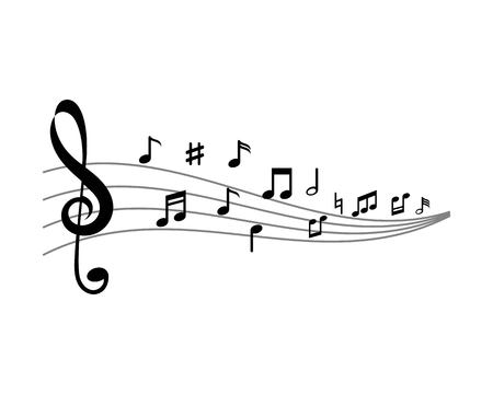 Music note ilustration  Icon Vector