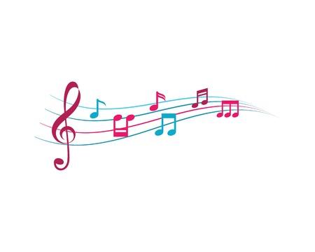 音楽ノートのイラストアイコンベクトル  イラスト・ベクター素材