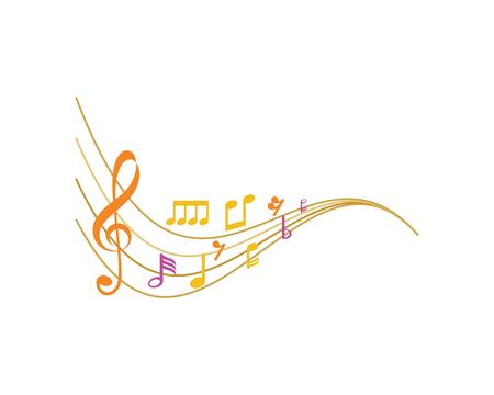 Music note ilustration  Icon Vector Banque d'images - 91958957