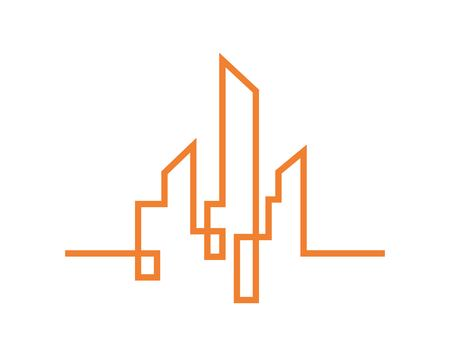city silhouette. vector illustration in flat design