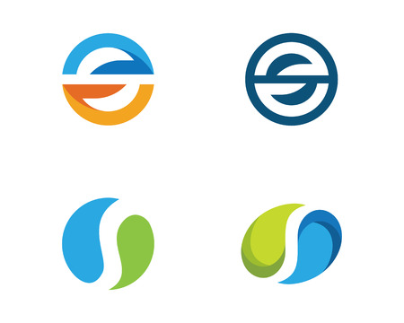 S lettre logo design modèle vector illustration Banque d'images - 92101949
