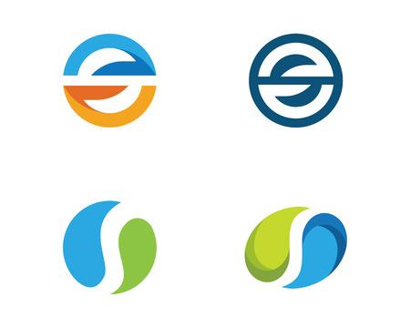 S letter logo design template vector illustration