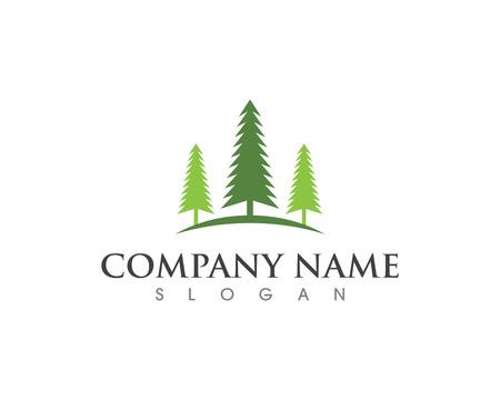 Cedar tree Logo template vector icon illustration