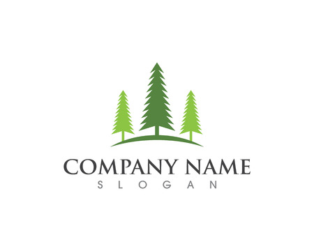 Cedar tree Logo template vector icon illustration
