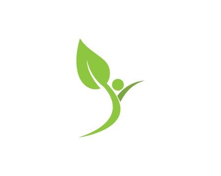Human character health care logo concept design.