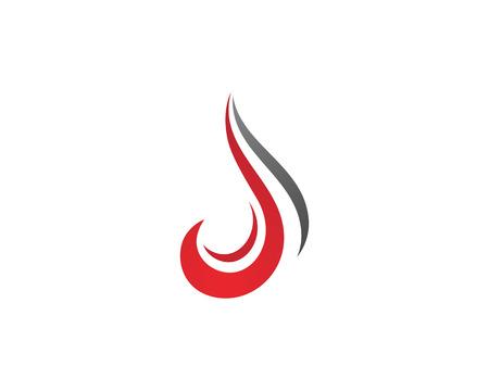 Fire flame symbol icon template design.