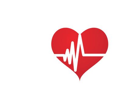 Art design health medical heartbeat pulse icon template design.