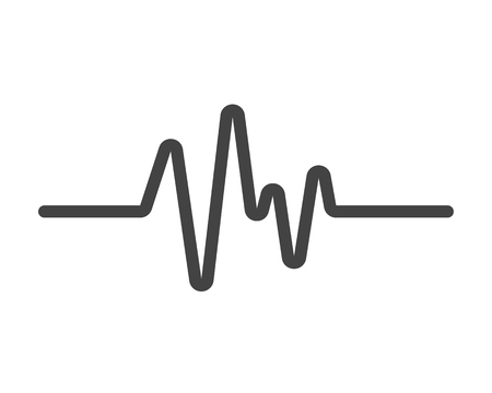 Art design health medical heartbeat pulse icon template design.