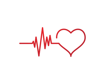Art design health medical heartbeat pulse symbol icon design.