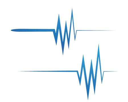 Art design health medical heartbeat pulse  symbol icon design.