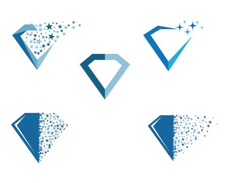Diamond icon Template vector icon illustration design