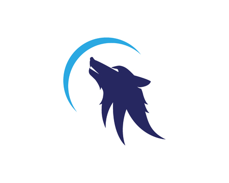 Wolf icon template vector illustration design. 일러스트