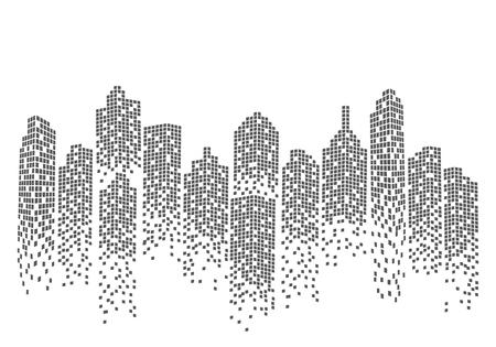 City skyline background vector illustration Stock Illustratie