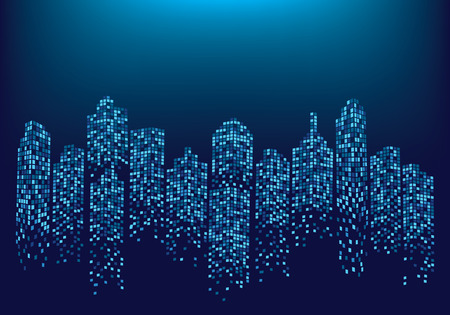 City skyline background vector illustration Illustration