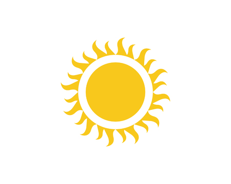 Sun vector illustration icon template.