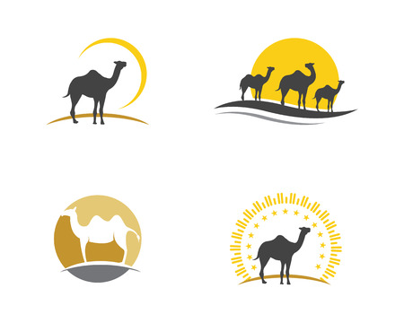 Camel vector illustration icon template.