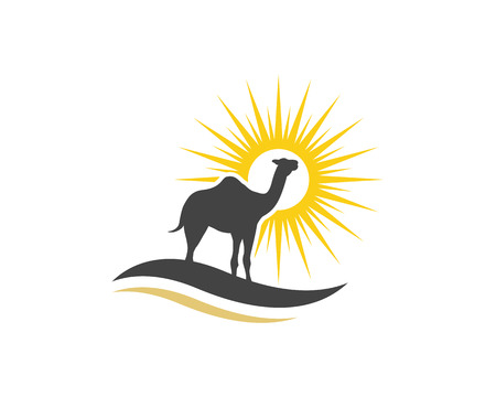 Camel vector illustratie pictogrammalplaatje.