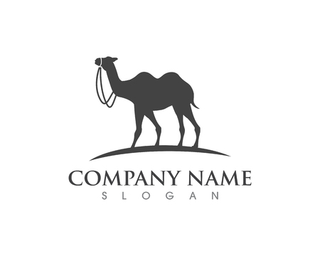 Camel Icon Vector illustration design Logo Template  イラスト・ベクター素材