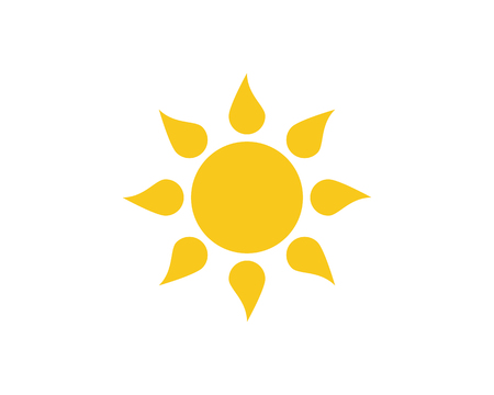 Sun Vector illustration Icon Logo Template Vettoriali
