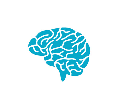 Brain vector illustration icon template
